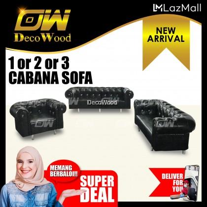 Cabana 1 / 2 / 3 Seater Sofa Sofa Fully Leather Sofa / Lounge Chair / Relax Sofa / Relax Chair / Fabric Sofa / Sofa Santai RC