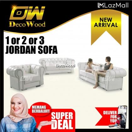 Jordan 1+2+3 Seater Sofa Sofa Fully Leather Sofa / Lounge Chair / Relax Sofa / Relax Chair / Fabric Sofa / Sofa Santai RC