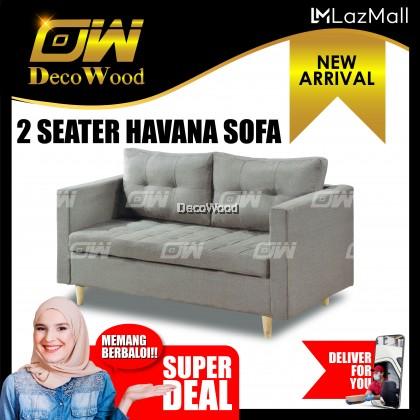 Havana 2 Seater Sofa Fully Leather Sofa / Lounge Chair / Relax Sofa / Relax Chair / Fabric Sofa / Sofa Santai RC