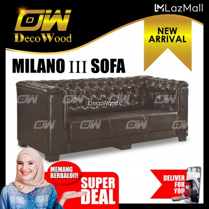 Milano 3 Seater Sofa Fully Leather Sofa / Lounge Chair / Relax Sofa / Relax Chair / Fabric Sofa / Sofa Santai RC