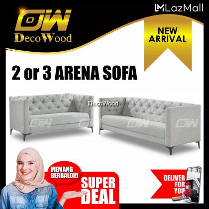 Amber 2+3 Seater Sofa Fully Fabric Sofa / Lounge Chair / Relax Sofa / Relax Chair / Fabric Sofa / Sofa Santai RC