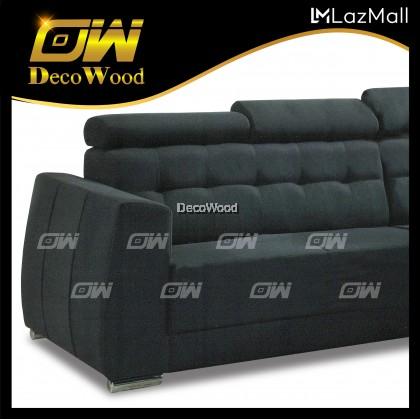 Sasa L-Shape Sofa Sofa Fully Leather Sofa / Lounge Chair / Relax Sofa / Relax Chair / Fabric Sofa / Sofa Santai RC