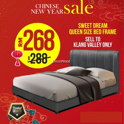⚡️ PROMOTION ⚡️ SD Divan + Headboard Canvas Leather Bed Frame / Katil - King /Queen /Super Single /Single (Mattress / Tilam Not Included)