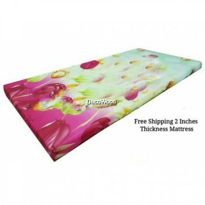 Tilam Bujang Gulung Tilam Single 2 Inci Tebal 5cm Foldable Single Mattress Normal Foam/Tilam Lipat