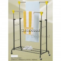 3V Indoor/Outdoor Anti-Rust Towel Hanger/Clothes Dryer/Outdoor Hanger/Outdoor Dryer/Towel Hanger/Panties Hanger/Pants Hanger/Shirt Hanger/Baju Hanger L962MM X W485MM X H1620MM Pre Order 1 Week