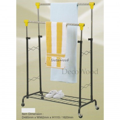 3V Indoor/Outdoor Anti-Rust Towel Hanger/Clothes Dryer/Outdoor Hanger/Outdoor Dryer/Towel Hanger/Panties Hanger/Pants Hanger/Shirt Hanger/Baju Hanger L962MM X W485MM X H1620MM Pre Order 1 Week