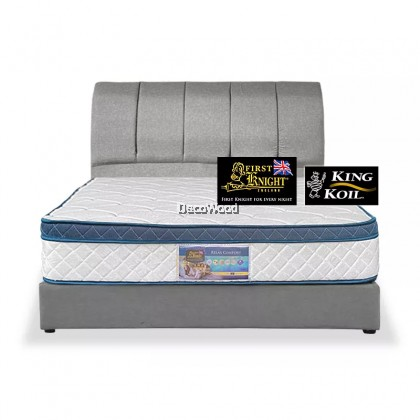 ⚡️PROMOTION⚡️ FirstK Divan + Headboard Canvas Leather Bed Frame / Katil / Apartment Bed / Condo bed / Solid Divan Bed / Bedframe / Katil Hotel / 5 Star Hotel Bed - Single / Super Single / Q - King /Queen /Super Single /Single (Mattress / Tilam