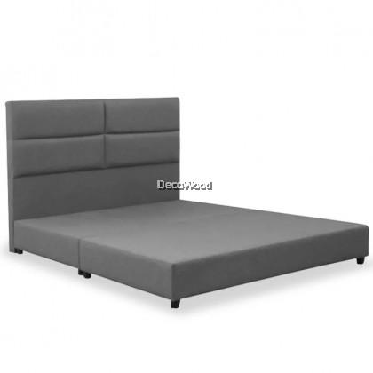 ⚡️PROMOTION⚡️ SpinePro Bliss Divan + Headboard Canvas Leather Bed Frame / Katil / Apartment Bed / Condo bed / Solid Divan Bed / Bedframe / Katil Hotel / 5 Star Hotel Bed - Single / Super Single / Q - King /Queen /Super Single /Single (Mattress / Tilam)