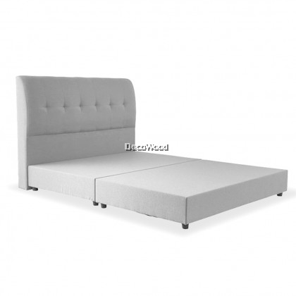 ⚡️PROMOTION⚡️ Relax Support Divan + Headboard Canvas Leather Bed Frame / Katil / Apartment Bed / Condo bed / Solid Divan Bed / Bedframe / Katil Hotel / 5 Star Hotel Bed - Single / Super Single / Q - King /Queen /Super Single /Single (Mattress / Tilam)