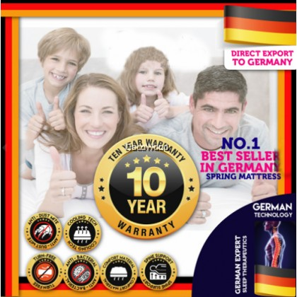 *Latest Promotion* (King/Queen/Super Single/Single) DW Heropedic King / Queen / Super Single / Single Size Mattress with Essence of Bamboo ( Edition Exported to Europe ) 10 inch Chiropractic Spring Mattress Tilam (10 Years Warranty)