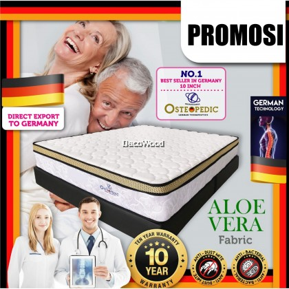 *Latest Promotion* (King/Queen/Super Single/Single) DW Osteopedic King / Queen / Super Single / Single Size Mattress with Essence of Bamboo ( Edition Exported to Europe ) 10 inch Chiropractic Spring Mattress Tilam (10 Years Warranty)