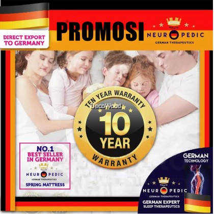 *Latest Promotion* (King/Queen/Super Single/Single) DW Neuropedic King / Queen / Super Single / Single Size Mattress with Essence of Bamboo ( Edition Exported to Europe ) 10 inch Chiropractic Spring Mattress Tilam (10 Years Warranty)
