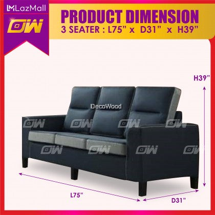 W3889 1 / 2 / 3 / SET Seater Sofa Fully Fabric Sofa / Lounge Chair / Relax Sofa / Relax Chair / Fabric Sofa / Sofa Santai 3861123
