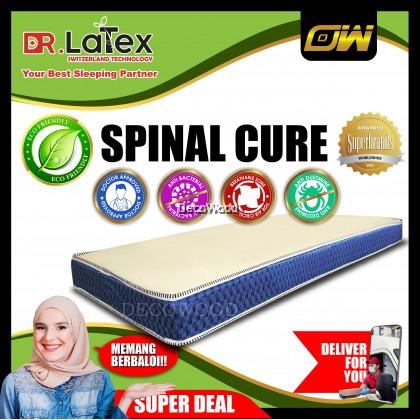 Spinal-Cure 5 INCHES Natural Latex Foam Posture Mattress Single Mattress Tilam - Single Size [DecoWood DW Furniture]