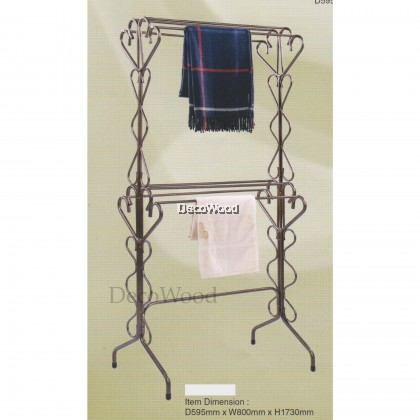 3V Double Layer Indoor/Outdoor Anti-Rust Towel Hanger/Clothes Dryer/Outdoor Hanger/Outdoor Dryer/Towel Hanger/Panties Hanger/Pants Hanger/Shirt Hanger/Baju Hanger L595MM X W800MM X H1730MM Pre Order 2 Week