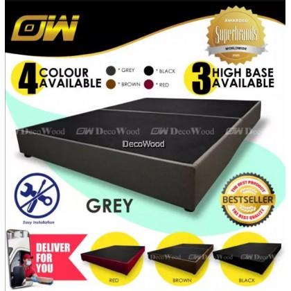 14 Inches Scandavian Waterproof CASA Leather Divan Base Box Only - King Size / Divan Box / Leather Divan / Solid Divan Bed / Bedframe Katil / Hotel Bed / Katil Bed Frame