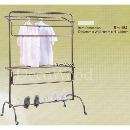 3V 10 Bars Outdoor Anti-Rust Clothes Hanger/Clothes Dryer/Outdoor Hanger/Outdoor Dryer/Towel Hanger/Panties Hanger/Pants Hanger/Shirt Hanger/Baju Hanger L1278MM X W592MM X H1785MM Pre Order 2 Week