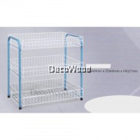 3-Layer Kitchen Rack/Plate Rack/Bowl Rack/Cup Rack/Cutlery Rack/Plate Rack/Metal Rack/Kitchen Rack/Sink Rack/Cooking Rack/Plate Rack/Clothes Rack/Rak Baju/Rak Dapur/Rak Masak L550MM X W350MM X H527MM