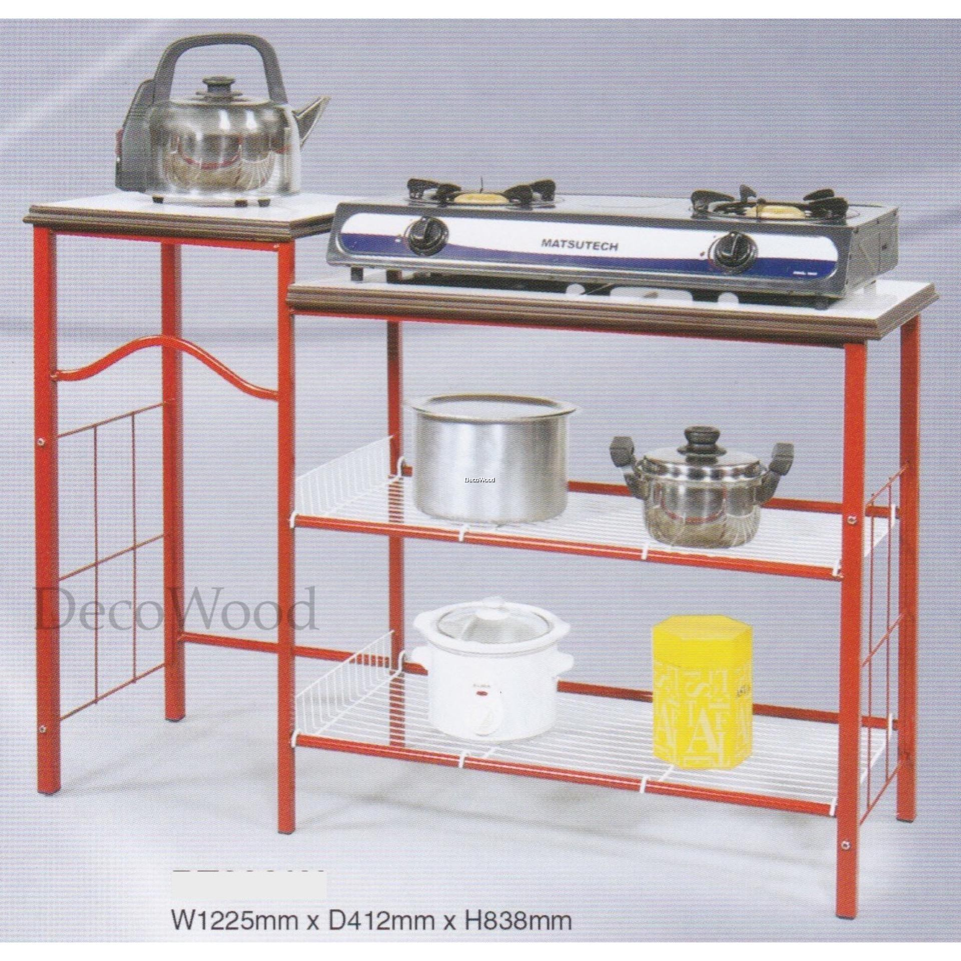 Anti Rust Strong Kitchen Stove Rack With Ceramic Tiles Top Gas