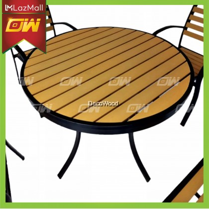 Solid Wood 1+4 Chair Lounge Set / Outdoor Dining Set / Garden Set Relax