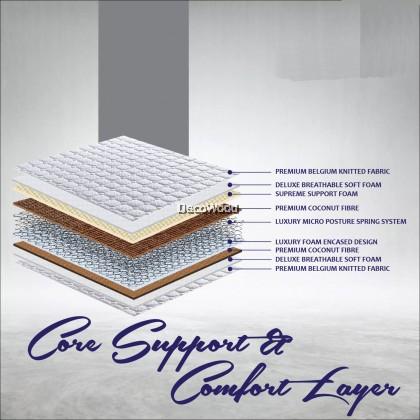 Dr.Latex Suphoria Deluxe 12 Inch Chiropractic Posture Spring + Coconut Fiber Mattress / Nap Mattress / Sleep Mattress / Mattress / Tilam