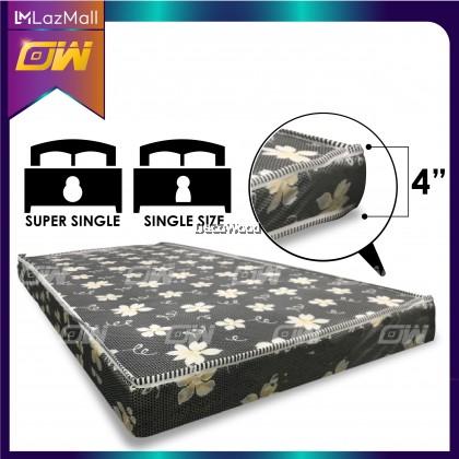 Dr.Latex 4 Inch Latex Foam Posture Mattress ( Random Flower Color ) / Single Mattress / Tilam - Single Size