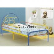 ABC Single Size Metal Bedframe/Single Metal Bed/Baby Bed/Single Bed/Kids Bedframe/Children Bed/Adult Bedframe/Large Bed/Homestay Bed/Master Bedroom Bed/Katil Besi Kuat