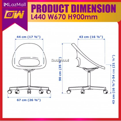 White Series Basic Seating / Home Chair / Casual Chair / PP Seating / Office Chair / High back Chair