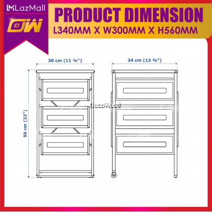 3 Drawer Unit / Drawer Basket / Kitchen Drawer  / Office Cabinet / Drawer Cabinet