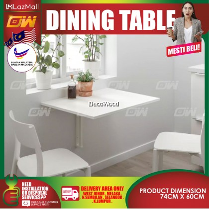 Wall-Mounted Drop-Leaf Table 74CM X 60CM / Foldable Table / Coffee Table / Study Table / Japanese Table / Foldable Table / Foldable Plastic Table