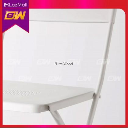 Set of 4 : White Foldable Chair / Dining Chair / PP Chair / Relax Chair / Hall Chair / Home & Office Chair / Kerusi Santai / Nap Chair / Tv Chair