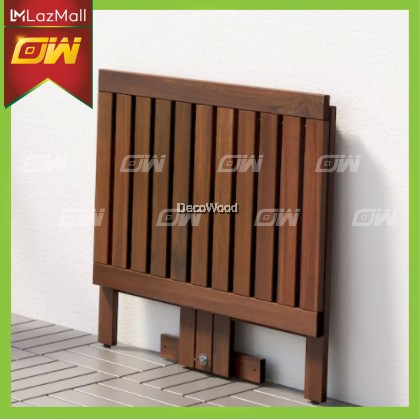 Folding Table Outdoor Table 80CM X 56CM / Garden Set / Meja Makan Santai Luar / Pool Side Set / Outdoor Set