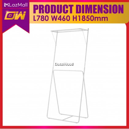 Slim White Outdoor Clothes Hanger / Anti-Rust Cloth Hanger / Drying Rack / Outdoor Clothes Hanger / Drying rack, 2 levels,  78x46x185 cm