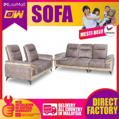 [PRE ORDER] Helene  2 / 3 / SET Seater Sofa Fully Fabric Sofa / Lounge Chair / Relax Sofa / Relax Chair / Fabric Sofa / Sofa Santai 2611