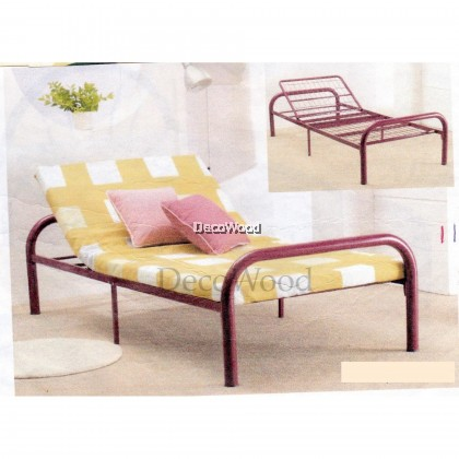 Adjustable Single BedFrame Metal Bed/3 Feet Single Bed/Single Metal Bed/Single Bed/Single Bedframe/Adult Bedframe/Large Bed/Homestay Bed/Master Bedroom Bed/Katil Besi Kuat/Katil Besi Single