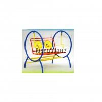 Metal Solid Garden Swing/Metal Swing/Children Playground/Children Toy/Toys/Indoor Swing/Outdoor Swing/Relax Chair/Patio Chair/Patio Swing (Colourful Colour) Pre Order 1 Week