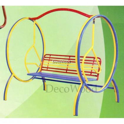 Metal Solid Garden Swing/Metal Swing/Children Playground/Children Toy/Toys/Indoor Swing/Outdoor Swing/Relax Chair/Patio Chair/Patio Swing (Brown Colour) Pre Order 1 Week