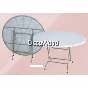 3-Feet Round Plastic Table/Dining Table/Writing Table/Mamak Table L900MM X W900MM X H750MM