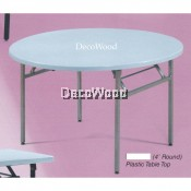 4-Feet Round Plastic Table/Banquet Table/Wedding Table/Restaurant Table/Meeting Table/Dining Table/Writing Table/Mamak Table L1200MM X W1200MM X H750MM Pre Order 1 Week