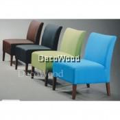 1 Seater Fabric Sofa Lounge Chair Relax Sofa (Orange Color)