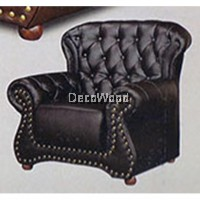1-Seater Fully Leather High Class Sofa Lounge Chair Relax Sofa (Maroon Color) L1010MM X W810MM X H965MM