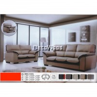 1+2+3 Seater Leather Sofa Lounge Chair Relax Sofa Set(Grey + Dark Brown)