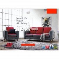 1 Set 1+2+3 Seater Fully Water Resistant Fabric Sofa Lounge Chair Relax Sofa (Red Color)