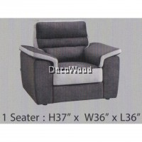 1-Seater Fully Water Resistant Fabric Sofa (Grey Color) L914MM X W914MM X H965MM Pre Order 2 Weeks