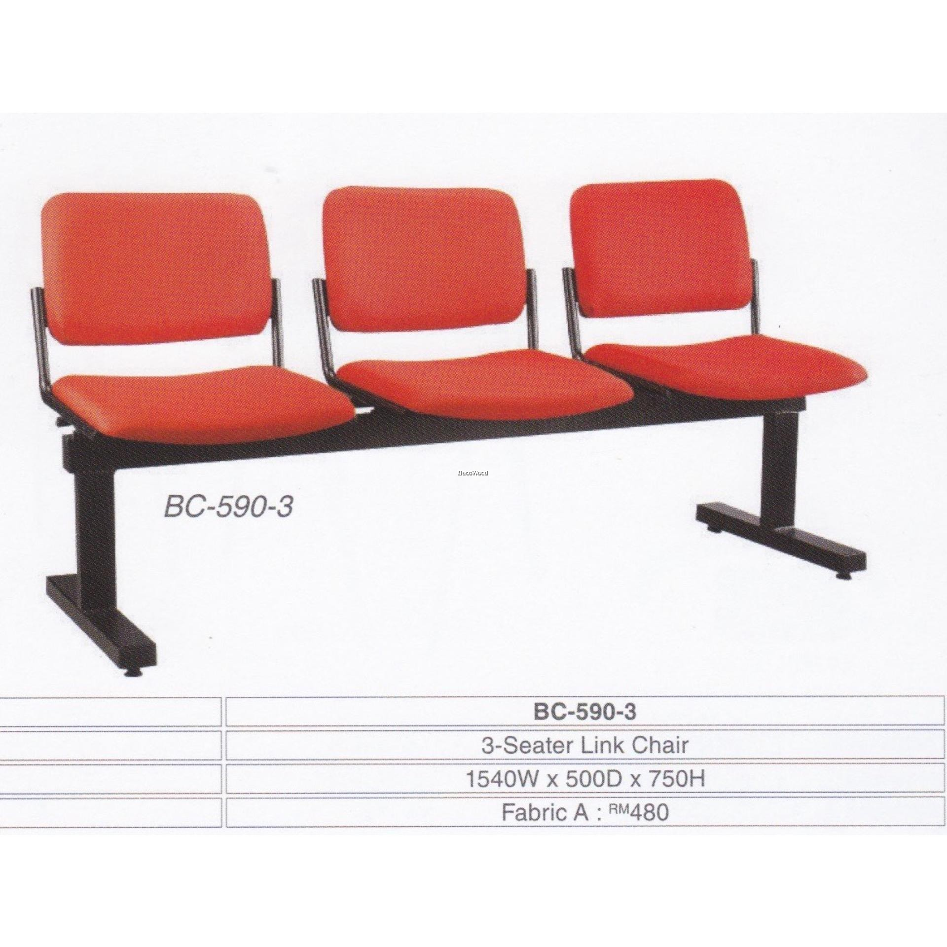 Fine Deco Waiting Area 3 Seater Link Cushion Chair Hall Clinic Office Red Color L1540Mm X D500Mm X H750Mm Pre Order 2 Weeks Pabps2019 Chair Design Images Pabps2019Com