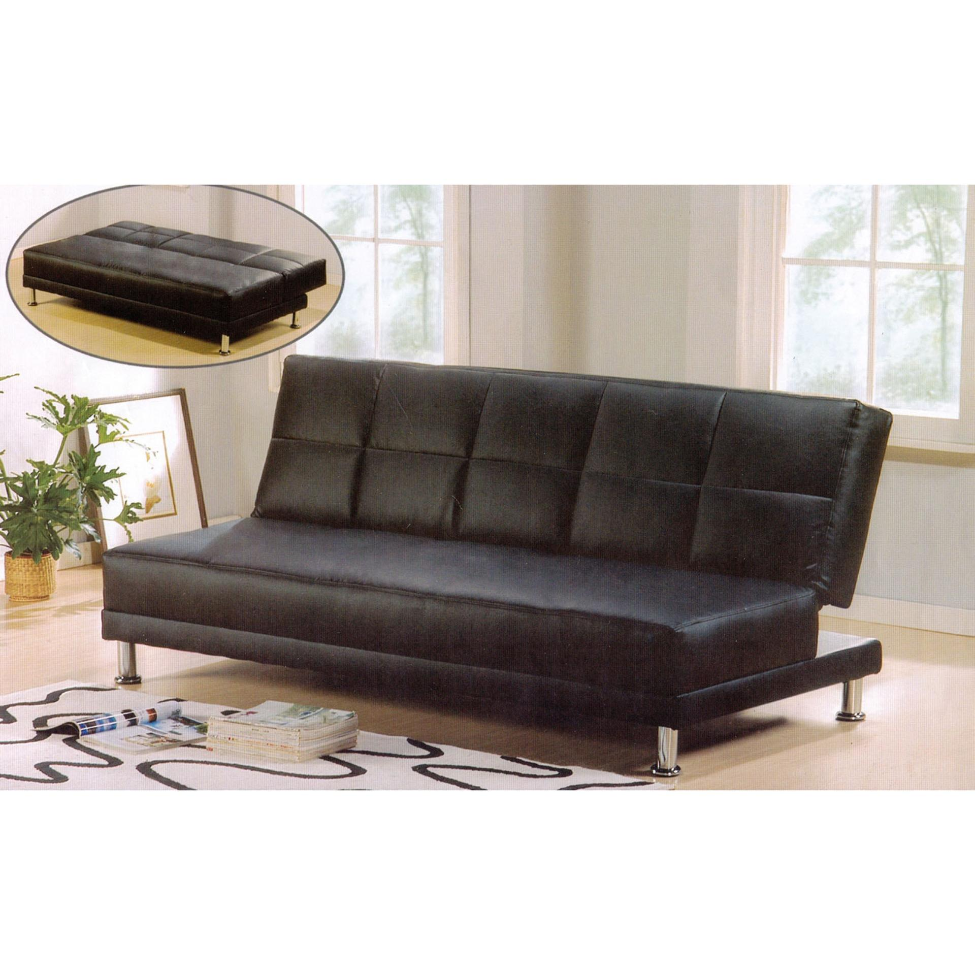 Black Good Leather Sofa Bed Room Sofa Bed Office Sofa Bed ...