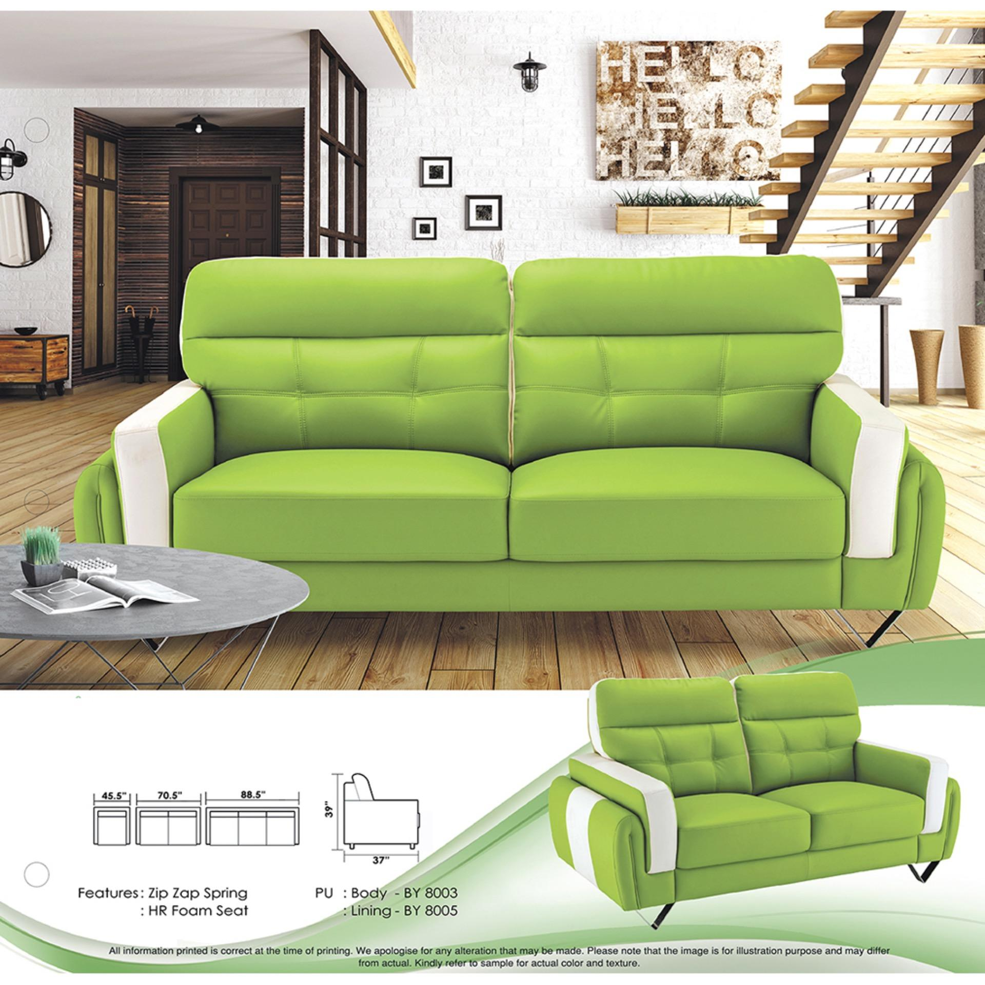 Sofa Set 1 2 3 Fully Leather Sofa Lounge Chair Living Hall Sofa